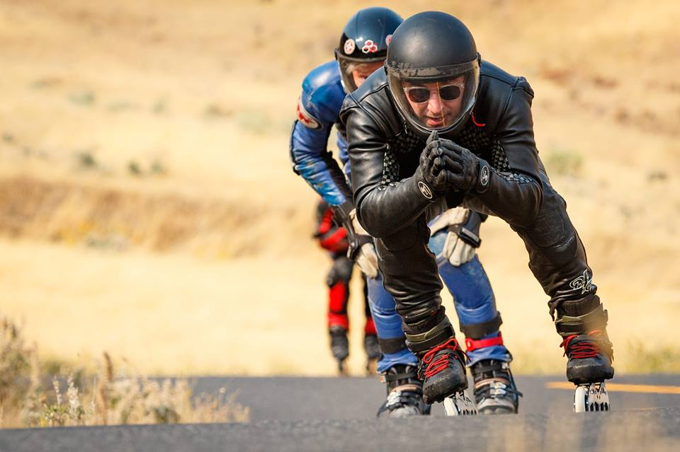 Gabe Holm downhilling at the Maryhill race in Washington.