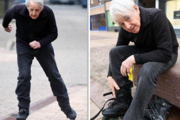 dailymail.co.uk: Rollerblading Pensioner is Taken to Court For 'Endangering Public'