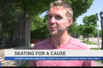 spectrumlocalnews.com: Mike Lempko Skating Across Country for Charity