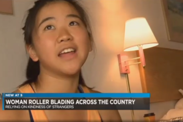 nbc12.com: Yanise Ho Rollerblading Thousands of Miles Across Country