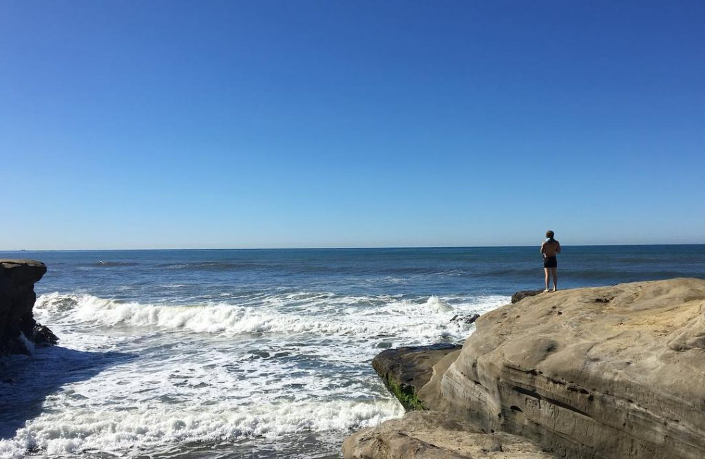 Caleb Smith taking in the view in San Diego