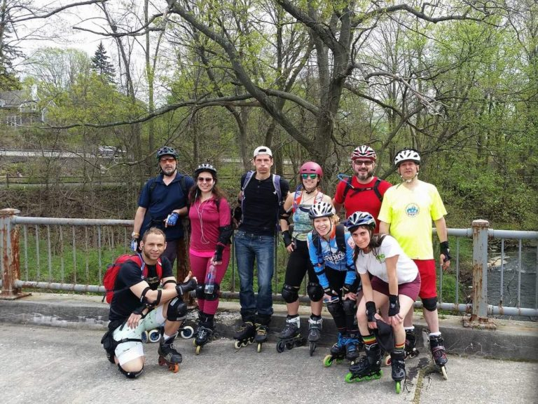The weekend #squad on a 41-mile skate to Chappaqua, NY this past weekend