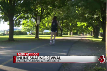 wcax.com: Inline Skating Making a Comeback in Burlington Vermont