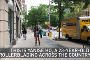 nbcnewyork.com: Rollerblading from Miami to LA to Show There's Kindness in the World