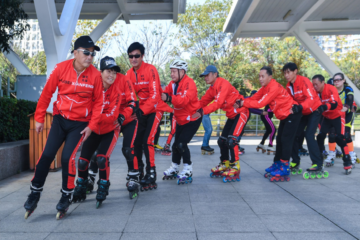 Seniors Citizens in China Inline Skate to Stay Active