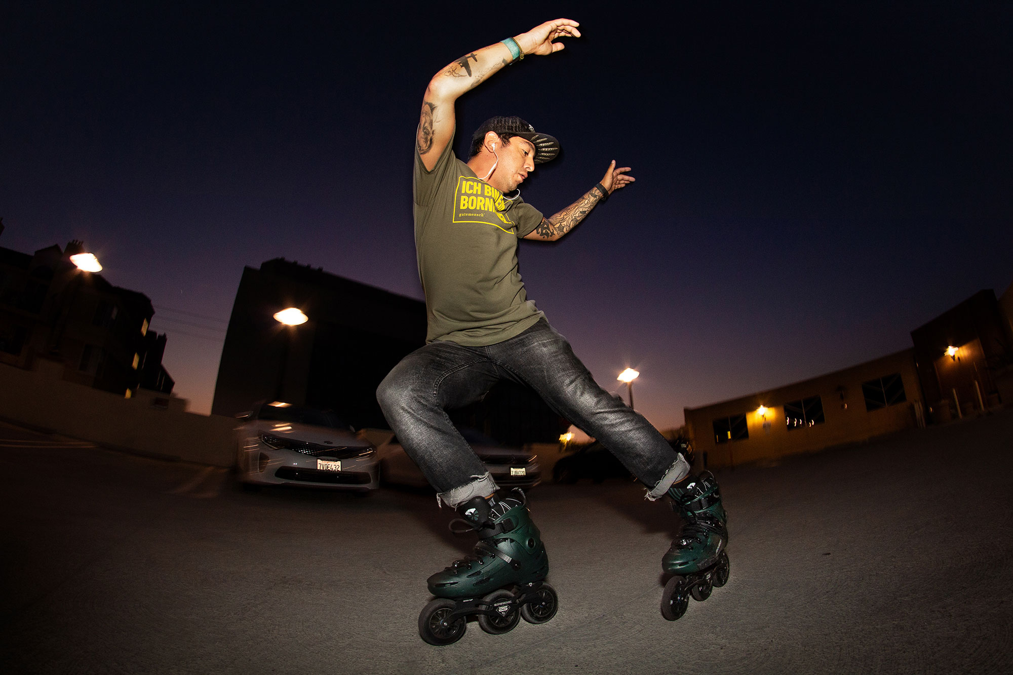 Juan Mosqueda Rolling Fakie. Photo by Jeff Linett.