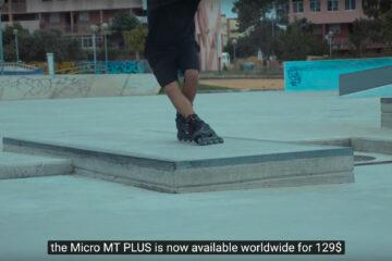 80mm Freeskate in Skatepark on the Micro MT Plus